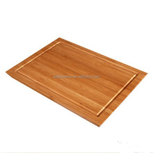 Square Bamboo Cutting board with Groove