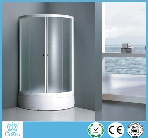 white paint frame pear glass shower room,shower enclosure,shower booth