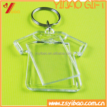 2015 Acrylic keychain plastic key chain/custom key chain