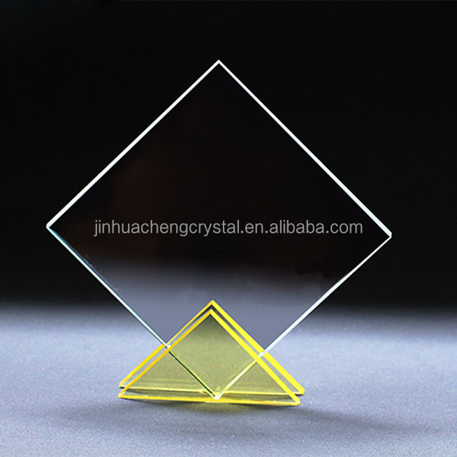 optical crystal glass award plaques for wholesale