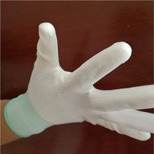 Factory Wholesale Custom Polyester PU White Anti-static Working Glove