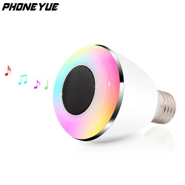 New Arrival Wireless E27 LED RGB Smart Bluetooth Speaker Bulb Light Lamp For Smartphone APP Control