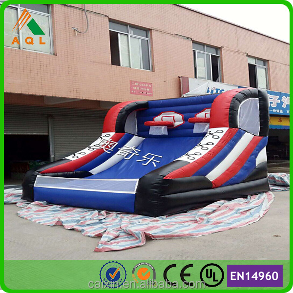 cheap inflatable water slides Commercial inflatable water slide with basketball hoop