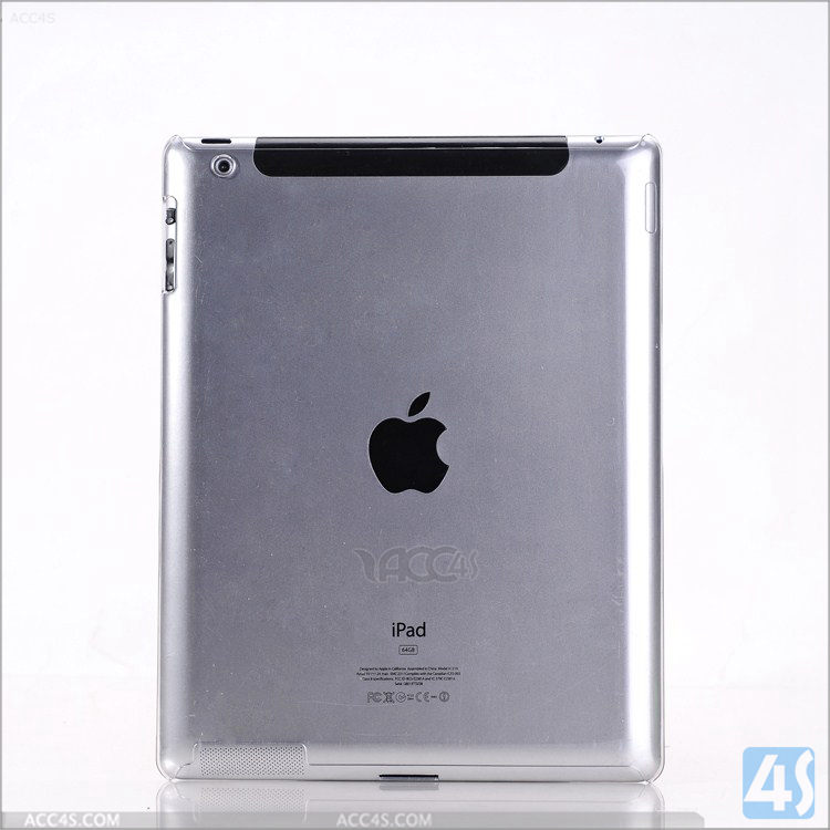 High quality transparent crystal clear PC case cover for iPad air 3,for iPad 4tablet case, Plastic Hard Case for iPad 2/3/4
