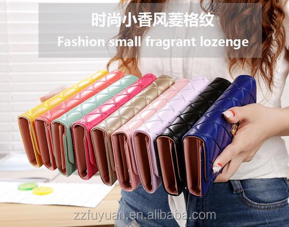 2017 new design lady pu wallet,money holders