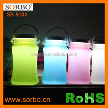 SORBO New Products Most Popular Rechargeable LED Emergency Lamp , Portable Solar LED Camping Lantern with Water Bottle