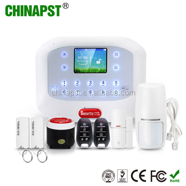 2017 new arrival App 50 Wireless zones LCD dispaly pstn&gsm home security Intelligent Auto-dial Alarm System PST-PG50A
