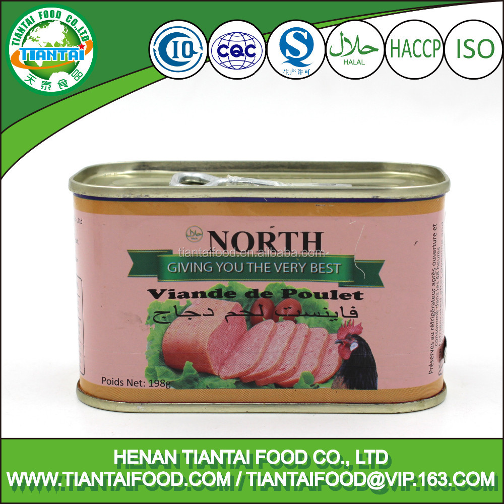 cooked chicken canned style and chicken type chicken luncheon meat