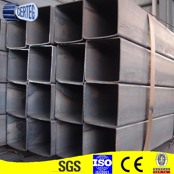Chinese cmpany carbon steel tubes / black square steel pipe (Q235B, ASTM A36, SS400, S335JR)