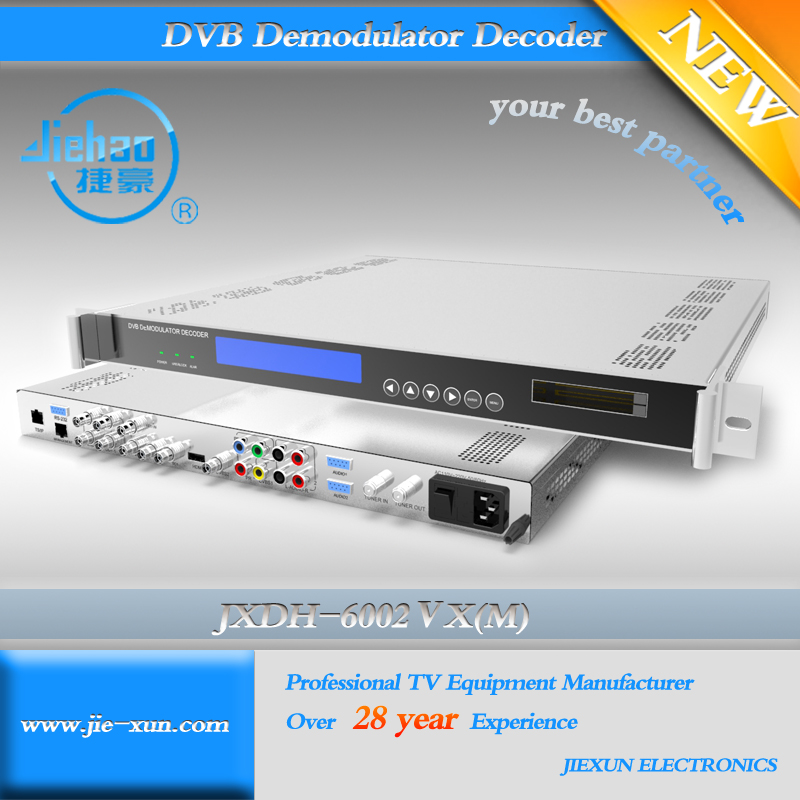 Satellite BISS dvb-s2 hd IRD with MPEG-4 Decoding and SDI and IP output HD Satellite Receiver