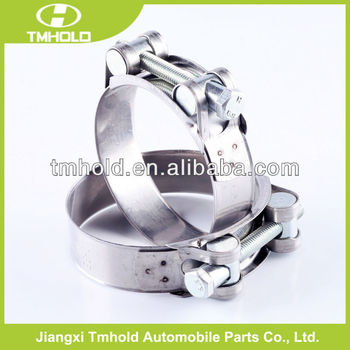 galvanized steel unitary strength sealing clamp with one bolt