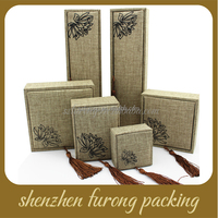 Special Custom Jute Gift Box In