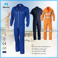 Workwear 100% Cotton Fireproof Coverall , 3M Reflective Coverall