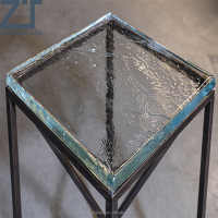 portable roung cast glass table top