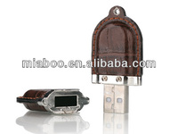 Lowest MOQ ,Lowest price Leather USB Flash Drive Promotional Shape USB memory Mini Leather USB stick