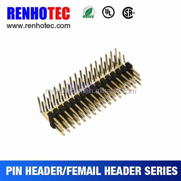 2mm SMD SQUARE HEADER 2x23p pin male header with optational peg and cap
