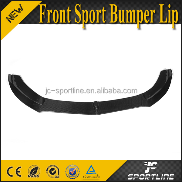 W205 Carbon Fiber Car Front Bumper Lip Spoiler for Mercedes C Class Sport only 2015