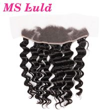 Human hair with clip in lace frontal closure