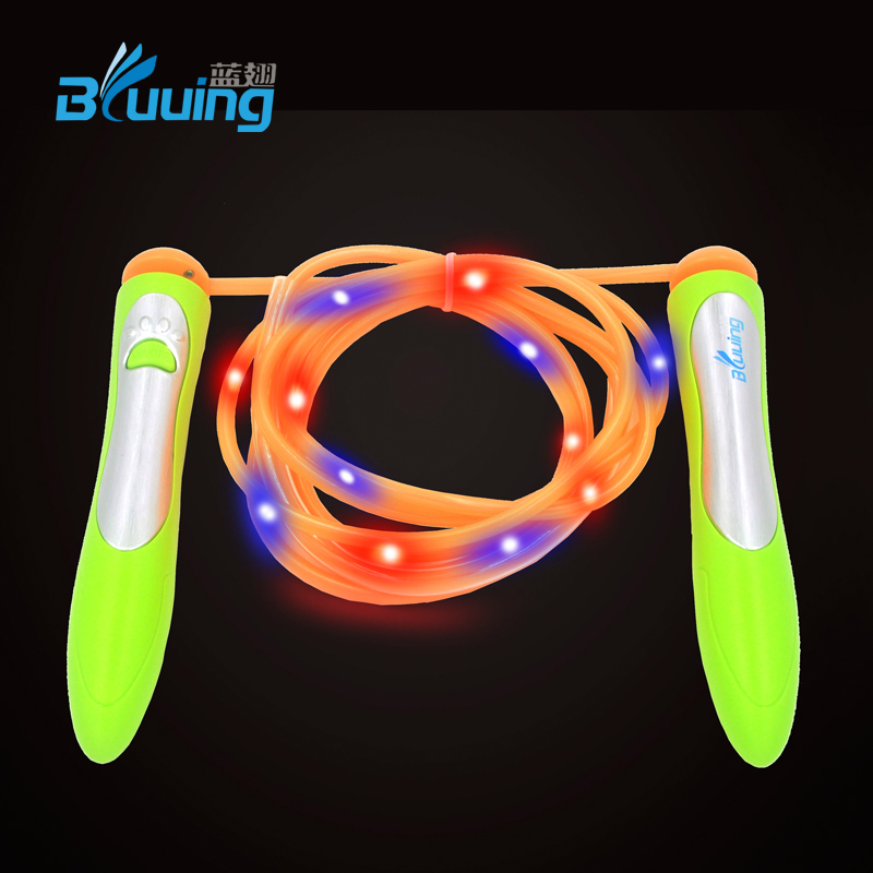 OEM and ODM produce Bluuing brand colorful speed color change led jump ropes innovative toys for children