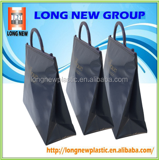 Luxury customized size printing lables plastic shopping bag