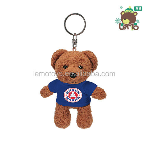 Promotional gift custom plush teddy bear keychain
