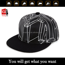 Wholesale custom floral hard plain 5 panel snapback hard hat