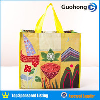 Full color printing recycled eco laminated pp woven shopping bag