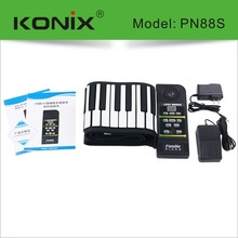 88 Key Flexible Roll Up Piano with 100 Rhythm 128 Sound 23 Demo Song for Toy Piano