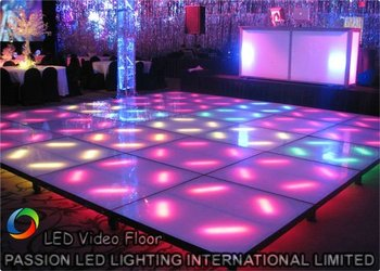 Interactive PH10 LED Dance Floor 640mmx640mm With Portable LED Dance Floor
