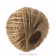China factory natural color Twisted jute yarn/jute twine/jute rope