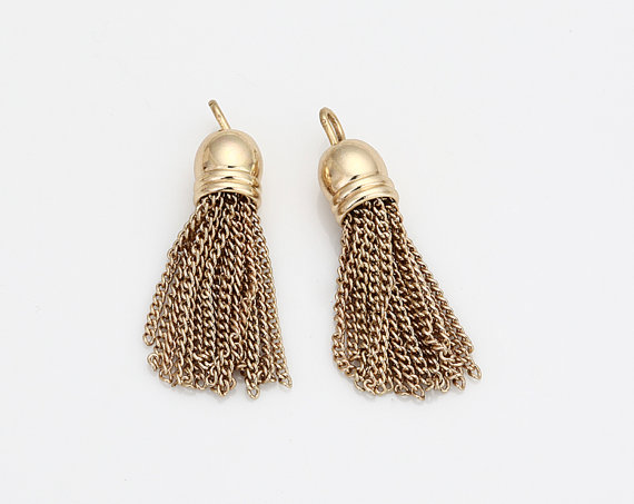 Best selling fashion jewelry accessories gold chain tassel pendant for jewelry making