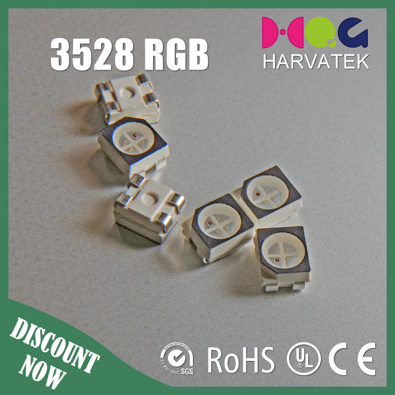 Super bright 3.5x2.8x1.9mm sanan chip 30mA surface mount 3528 1210 rgb led