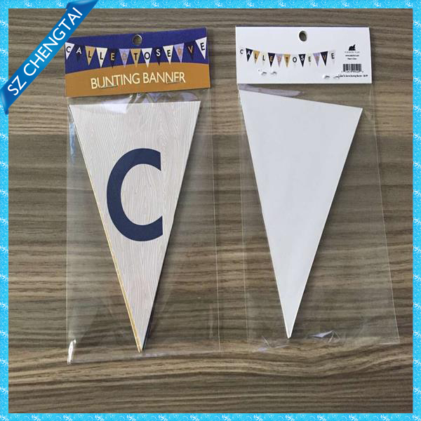 Paper printing bunting banner