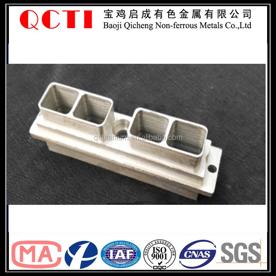 titanium alloied 2016 Baoji QCTI cnc machining mold parts