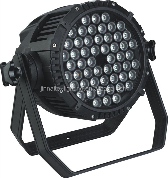 High Power 54 * 3W Waterproof RGBW LED Par Can Stage Light