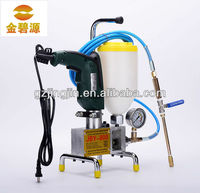 Foaming agent grouter, machine for grouting