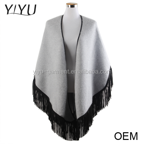 Cashmere Poncho Capes,Winter Women Tassel Ponchos