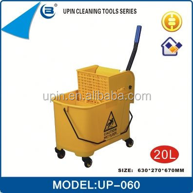 Factory direct sale small squeeze mop bucket with four wheels