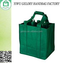 Promo cheaper Non woven wine bag 6 bottles carry bag with dividers custom logo