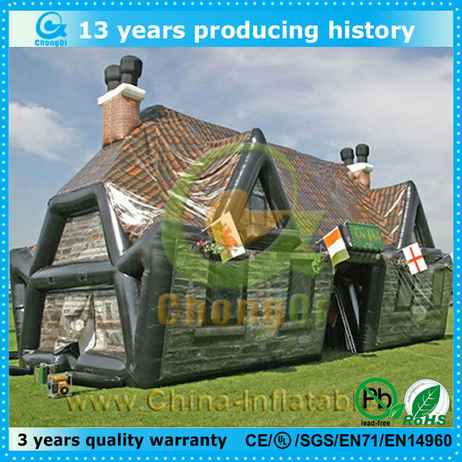 customized popular inflatable house shaped tents