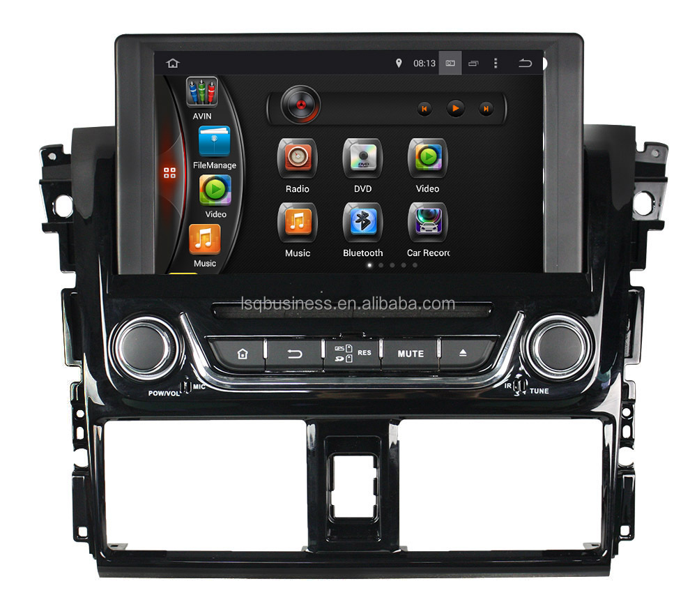Quad Core Android 4.4 Touch Screen Central Multimedia for Toyota Yaris Car Audio DVD Player With GPS Navigation
