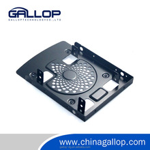 Aluminum 2.5'' to 3.5'' SATA HDD/SSD Bracket Hard Disk Drive Mounting Bracket with Cooling Fan