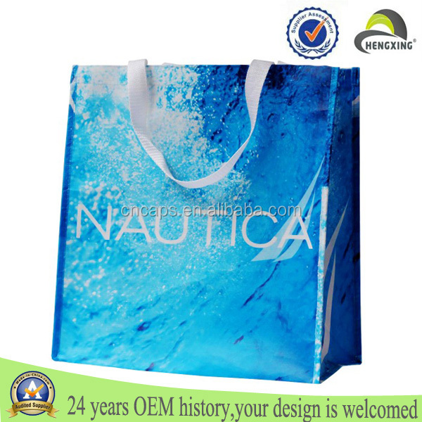Non woven laminating shopping bag polypropylene sublimation pp laminated non woven bag