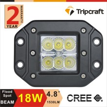 18W led work light 12v 24v ip67 auto, offroad led driving light 4x4 car accessories