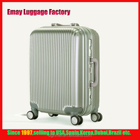2016 TSA Lock PC luggage Aluminum frame travel cases and bags