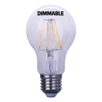 Dimmable LED Light Bulbs, 100W Equivalent Filament Edison Bulbs, Daylight White 5000K A19 Vintage LED Blubs