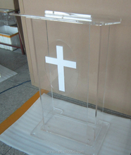 Factory Sale Lucite Transparent Glass Pulpit For Church
