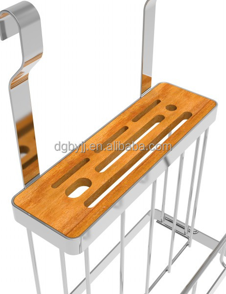 Baiying 2016 October Most Popular Kitchen Use Knife & Cutting Board Holder Rack knife rack with chrome coating