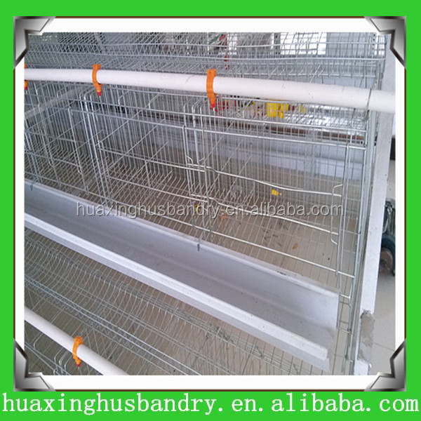 Poultry farming equipment chicken layer cage produced by Hua Xing with more than 20 years