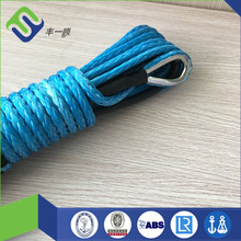 Heavy Duty 10mm UHMWPE Synthetic Winch Mooring Rope For UTV